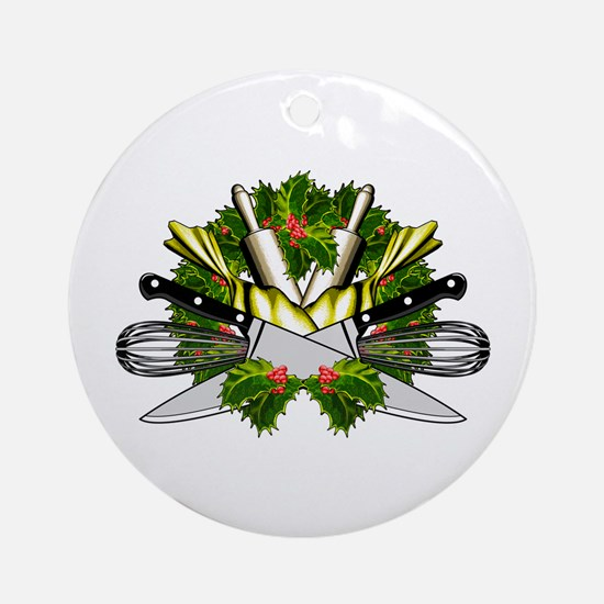 Chef Life Round Ornament