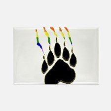 Gay Pride Paw Rip Rectangle Magnet