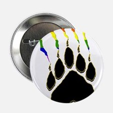 Gay Pride Paw Rip Button
