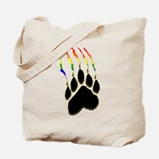 Gay Pride Paw Rip Tote Bag