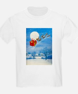 Santa with his Flying Reindeer T-Shirt