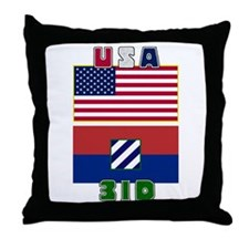 US and 3ID Flag Throw Pillow