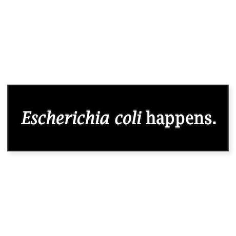 E. coli Bumper Sticker