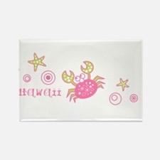 Hawaii Pink Crab Rectangle Magnet (10 pack)