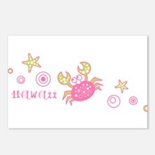 Hawaii Pink Crab Postcards (Package of 8)