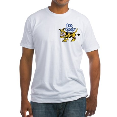 Poo Shooter Fitted T-Shirt