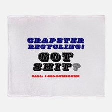 CRAPSTER RECYCLING - GOT SHIT:- Throw Blanket