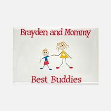 Brayden & Mommy - Buddies Rectangle Magnet (10 pac