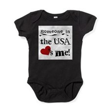 Cute Somebody london loves me Baby Bodysuit