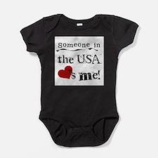 Cute Somebody california loves me Baby Bodysuit