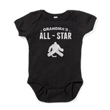 Grandma's All-Star Hockey Baby Bodysuit