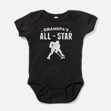 Grandpa's All-Star Hockey Baby Bodysuit