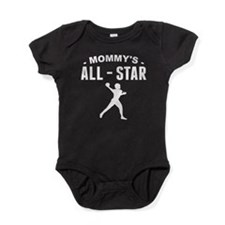 Mommy's All-Star Football Baby Bodysuit