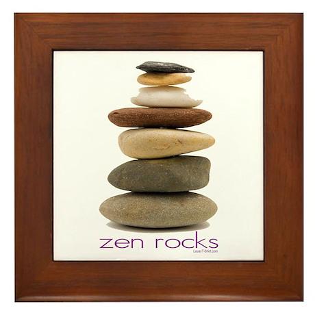 Zen Rocks Framed Tile