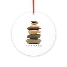 Zen Rocks Ornament (Round)