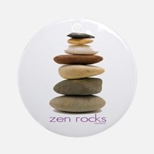 Zen Rocks Ornament (Round)