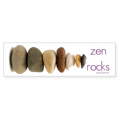 Zen Rocks Bumper Sticker