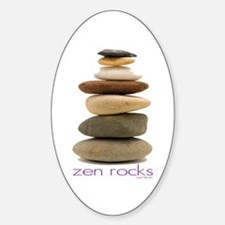 Zen Rocks Oval Decal