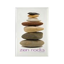 Zen Rocks Rectangle Magnet