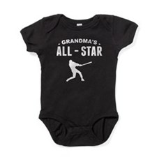 Grandma's All-Star Baseball Baby Bodysuit