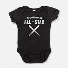 Grandpa's All-Star Baseball Baby Bodysuit