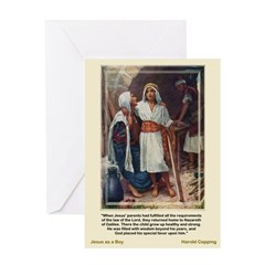 Jesus as a Boy-Copping-Greeting Card