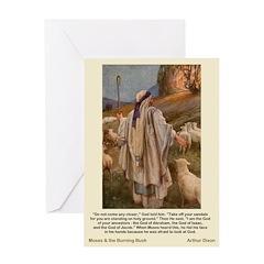 Moses and Burnig Bush-Dixon-Greeting Card