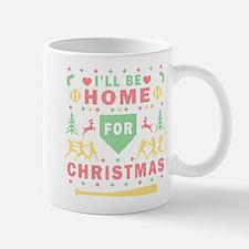 I'll be Home Fastpitch Softball Ugly Christmas Mug