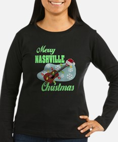 Merry Nashville Christmas-04 Long Sleeve T-Shirt