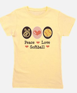 Cute Softball family Girl's Tee