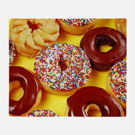 Assorted delicious donuts Throw Blanket