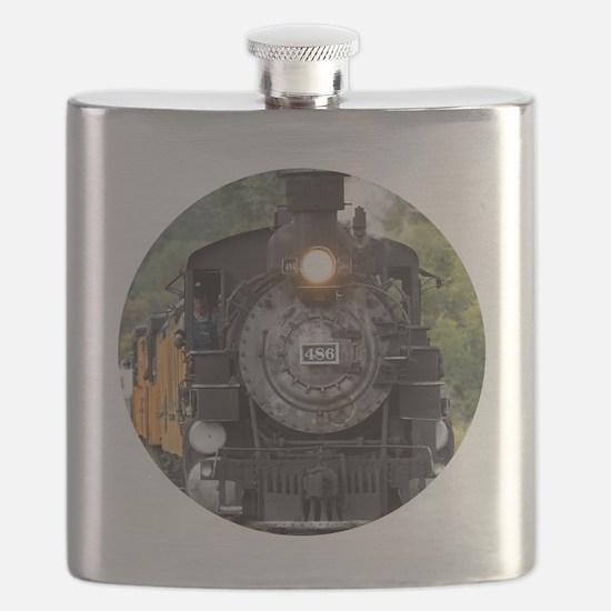 Cool Steam engine Flask