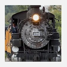 Cute Steam locomotive Tile Coaster