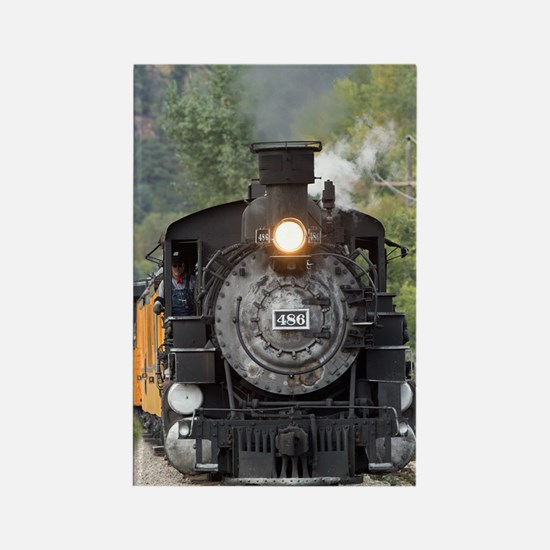 Cute Steam engine Rectangle Magnet