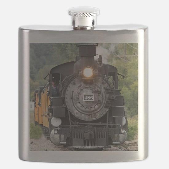 Unique Steam engine Flask