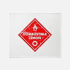 Combustible lemon - Portal 2 Throw Blanket