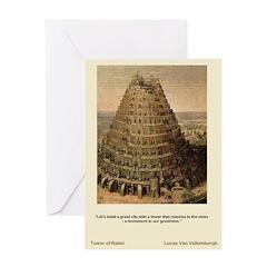 Tower of Babel-Valkenborgh-Greeting Card