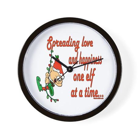 Spreading Love Elves Wall Clock