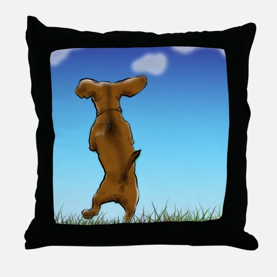Cute Dachsie Throw Pillow