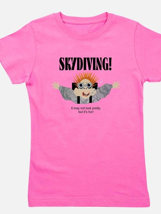 Cute Sky diving Girl's Tee