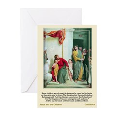 Jesus and Children-Bloch-Greeting Cards (Pk of 10)