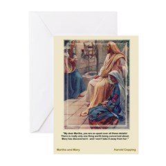 Martha and Mary-Copping-Greeting Cards (Pk of 10)