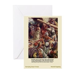 Carrying Jesus' Cross Greeting Cards (Pk of 10)