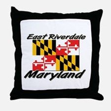 East Riverdale Maryland Throw Pillow