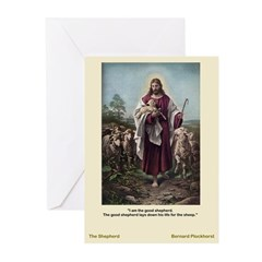 Good Shepherd-Plockhorst-Greeting Cards (Pk of 10)