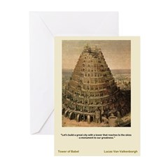 Tower of Babel-Valkenbor-Greeting Cards (Pk of 10)