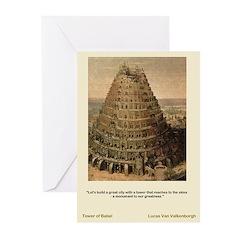Tower of Babel-Valkenbor-Greeting Cards (Pk of 10)
