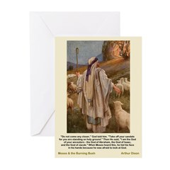 Moses Burning Bush-Dixon-Greeting Cards (Pk of 10)