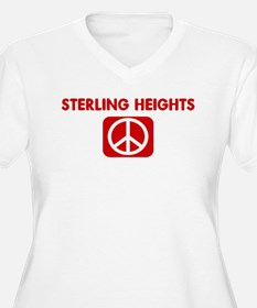 STERLING HEIGHTS for peace T-Shirt