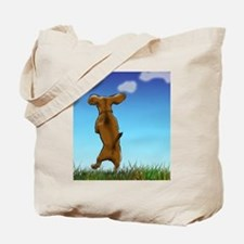 Happy Dachshund Tote Bag